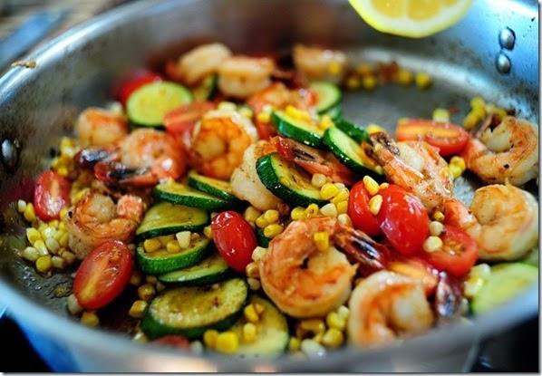 summer shrimp stir fry