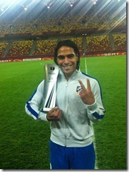 Falcao y el premio Man of the match