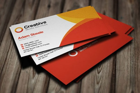 Media Business Cards in 2 Colors