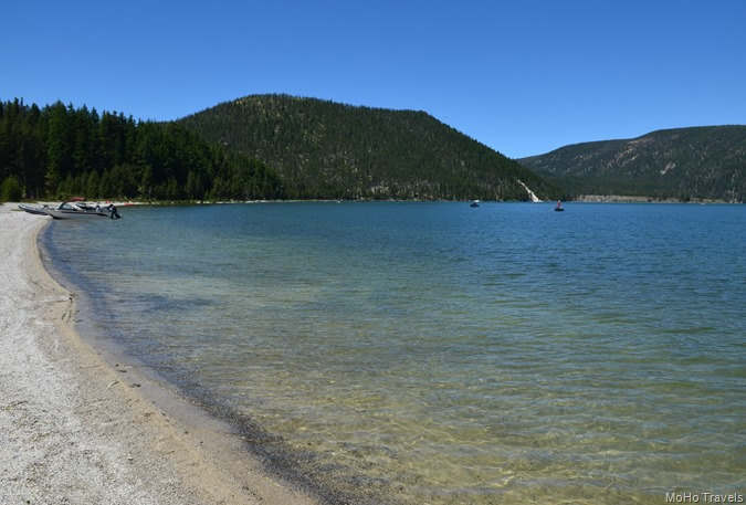 beach at East Lake campground