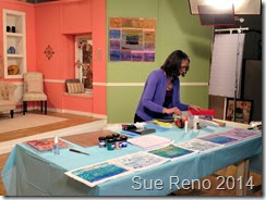 Sue Reno, QATV Workshop,  collagraph process