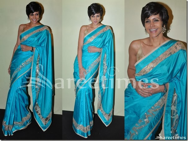 Mandira_Bedi_Blue_Silk_Saree