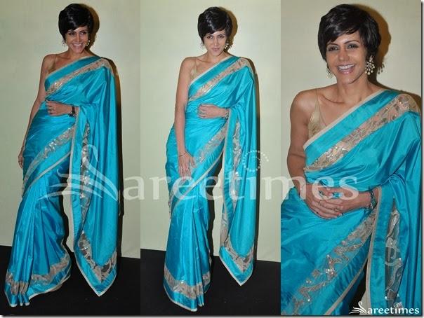 Mandira_Bedi_Blue_Silk_Saree