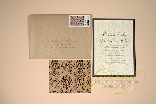 Posted in Uncategorized Wedding Tagged brown damask wedding invitations