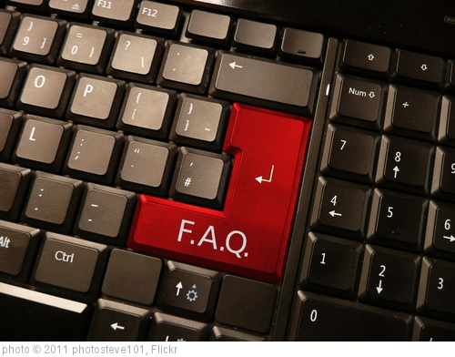 'Frequently Asked Questions - F.A.Q - FAQs on Keyboard' photo (c) 2011, photosteve101 - license: http://creativecommons.org/licenses/by/2.0/