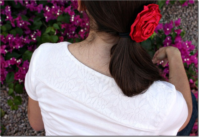 Lace Shirt Back