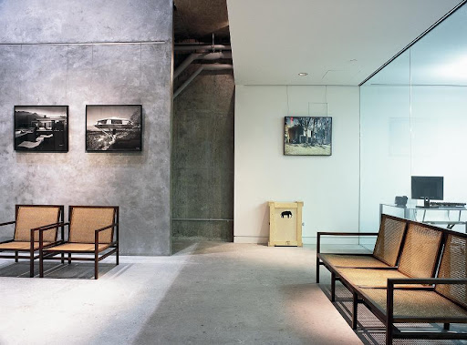 I love the raw industrial look of the Taschen gallery, located below the store.