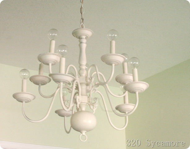 How to paint a brass chandelier diy 320 sycamore paint brass chandelier aloadofball Image collections
