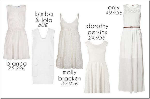 Tendencias verano 2014 01 Vestidos blancos
