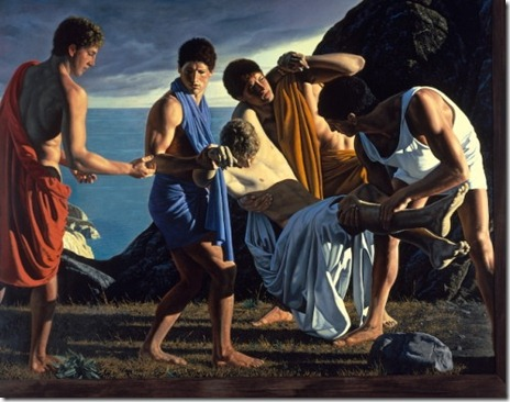 Achilles and the Body of Patroclus - David Ligare