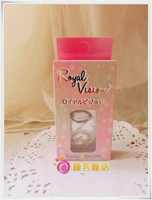 日本ROYAL VISION隱形眼鏡-蜜桃甜心金咖1
