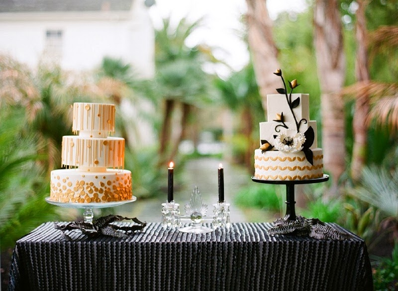 30 Oak and the Owl _ Art Deco Wedding Cakes