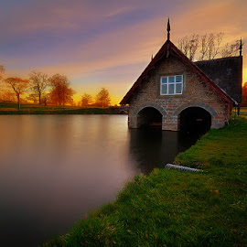 Carton Boathouse by Oliver Almazan - Buildings & Architecture Other Exteriors ( ireland, sunset, landscapes, carton house )