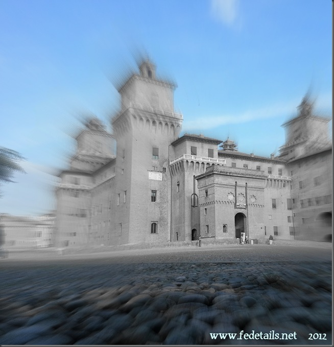 Veduta del Catello ( zoom focale ), Ferrara, Emilia Romagna, Italia - View of the Castle ( focal zoom ), Ferrara, Emilia Romagna, Italy - Property and Copyright of www.fedetails.net