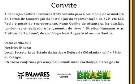 Convite Palmares