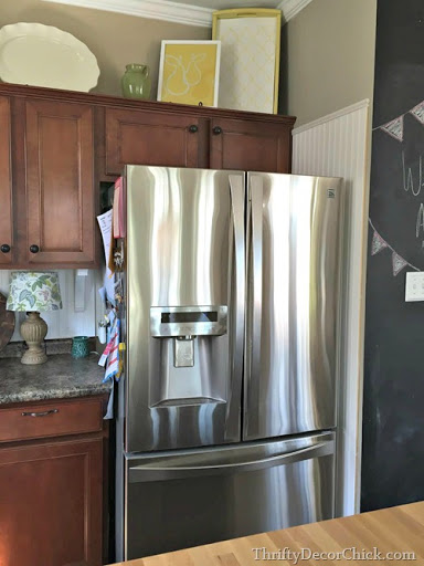 Building in a Fridge With Cabinet on top from Thrifty Decor Chick