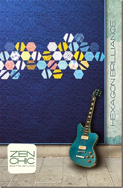 Hexagon Brilliance modern quilt pattern Zen Chic