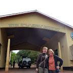 An der Einfahrt zur Ngorongoro Conservation Area