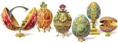 Peter Carl Faberge's 166th Birthday - Google Logo