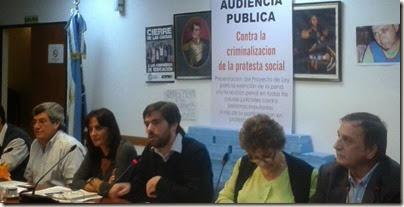Audiencia contra Criminalización de la Protesta Social 2