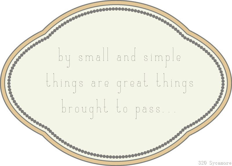 small and simple