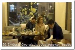 Os ataques a Adonis Georgiadis sobem de tom, de pastéis a socos. Jul.2013