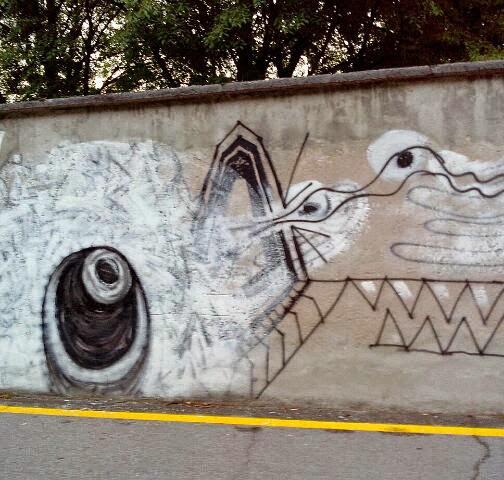 schwarz weiss graffiti