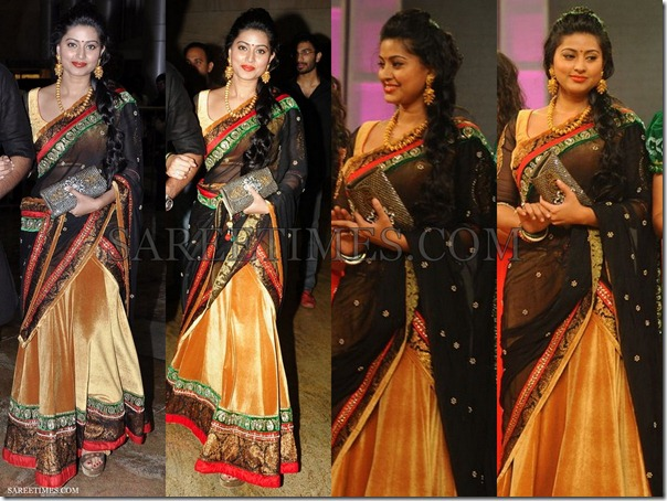 Sneha_Black_Gold_Saree