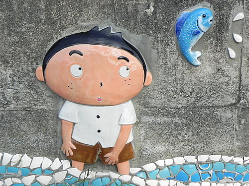 古笨港板頭村~舊河道、板頭車站、復興鐵橋、剪黏大壁畫