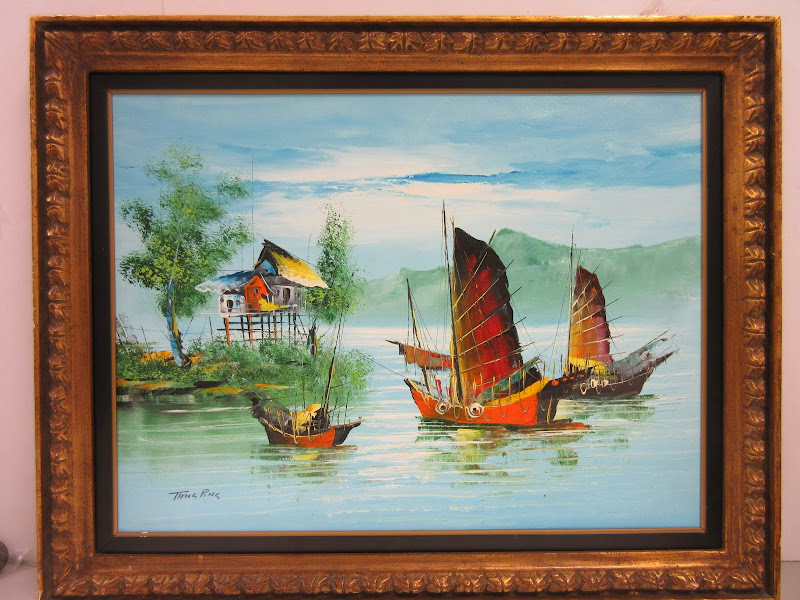 Tang Pins Signed Painting