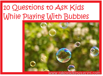 10 questions to ask kids while playing with bubbles