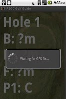 Screenshot of PBGC Golf Guide