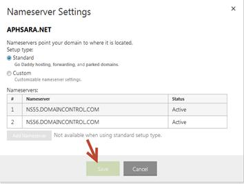 ตั้งค่า domain name ให้ชี้ไปยัง blogger