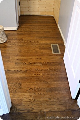 hardwoods in bathroom