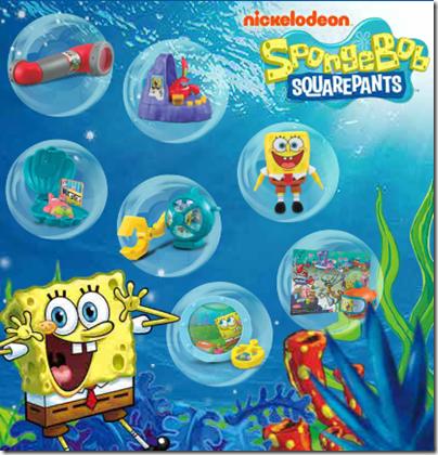 2014.02.17 SpongeBob Square Pants Underwater Adventures X McDonald happy meal