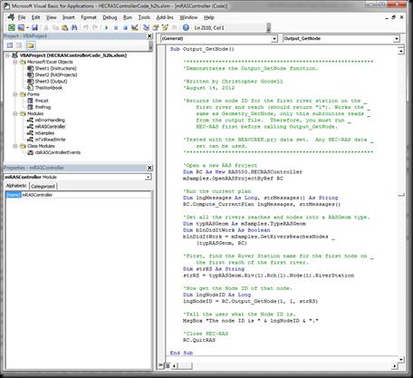"""The RAS Solution: HECRASController VBA Code-Companion to """"Breaking ..."""