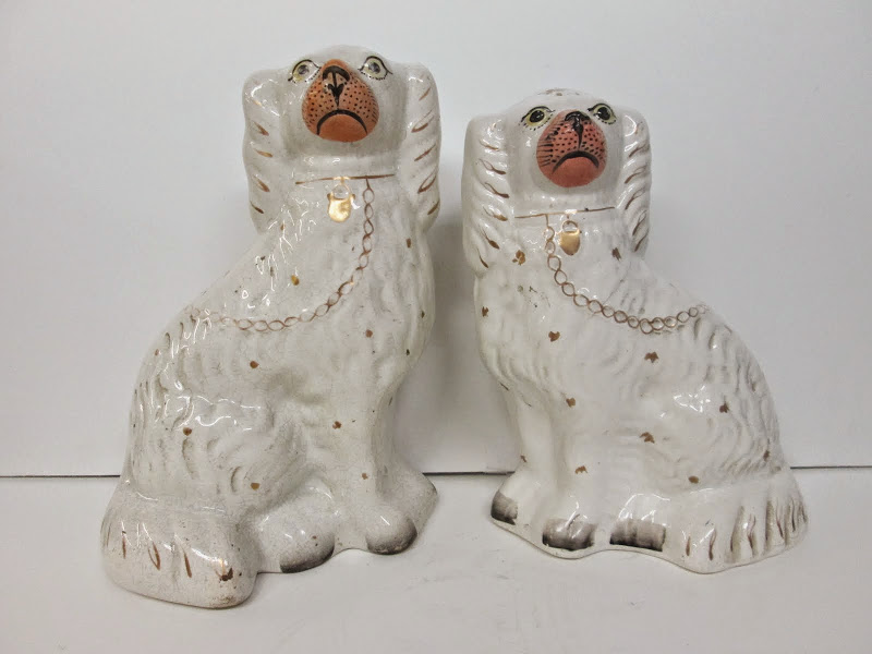 Antique Staffordshire Dog Pair