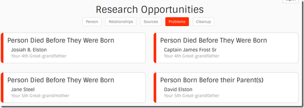 Find-a-Record research opportunities: problems