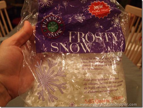 Fake snow product