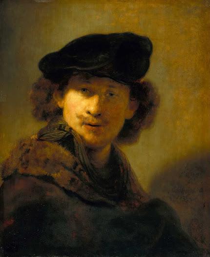 Rembrandt van Rjin, Autoritratto con berretta