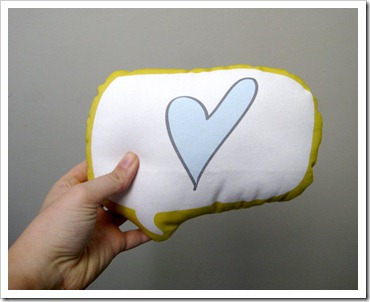 YellowHeartArt pillow