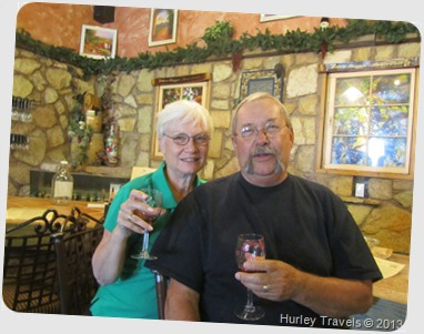 Nancy and Jerry at the winery in Deming, NM