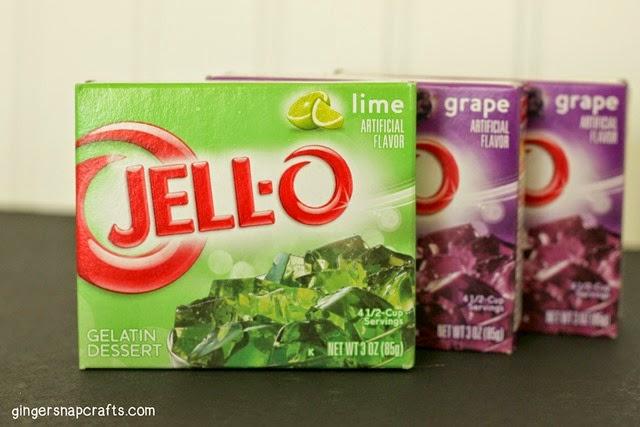 Recipe you ll need 1 3 oz box of lime jell o 2 3 oz boxes of grape