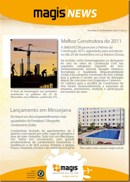 Newsletter MAGIS NOV