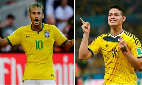 Ver Online Ver Brasil vs Colombia / Mundial Brasil 2014, Cuartos de Final (HD)