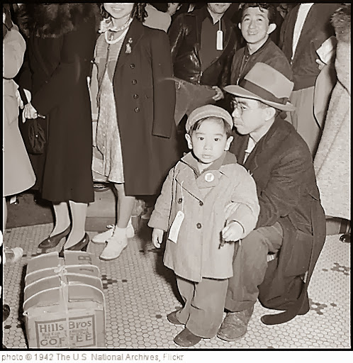 'San Francisco, California. The family unit in kept intact in various phases of evacuation of persons of Japanese ancestry. 04/06/1942' photo (c) 1942, The U.S. National Archives - license: http://www.flickr.com/commons/usage/