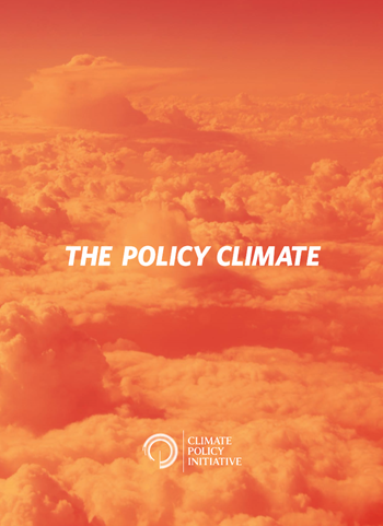 Cover of 'The Policy Climate' report from the Climate Policy Initiative, released on 15 April 2013. Graphic: CPI