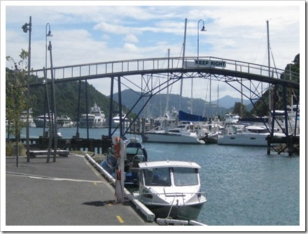 Picton Marina where we had lunch.