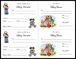 Sibling Shower Invitations2