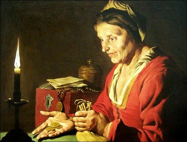Mathias Stomet, L'avarice ou femme à la pièce